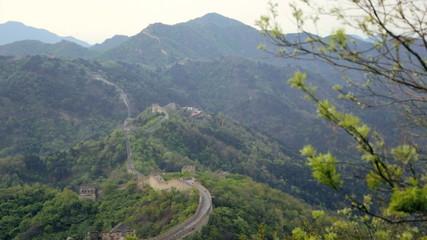 Eastern China The Great Wall crumbling fortifications Mutianyu