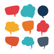 speech bubbles communication - 77034387