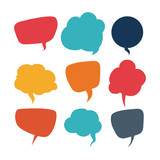 speech bubbles communication - 77034387