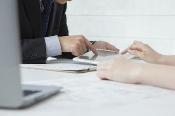 Women seeking residence in the real estate agency