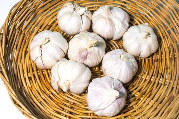 White Garlic Basket