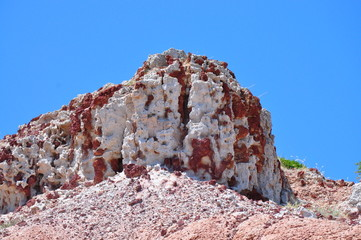 Amazing red Rock formation. Hallett Cove, South Australia.