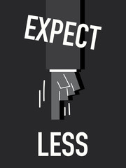 Words EXPECT LESS