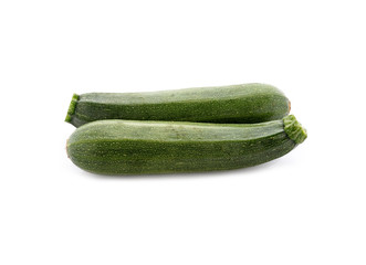 Fresh zucchini isolated on white background
