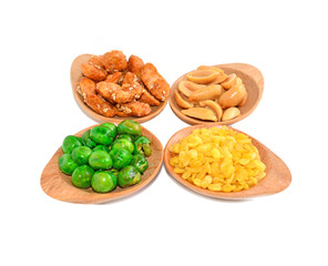 Snack Nuts with white background