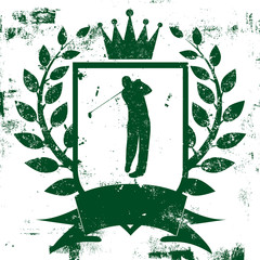 Golf Shield Insignia