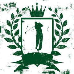 Golf Shield Insignia