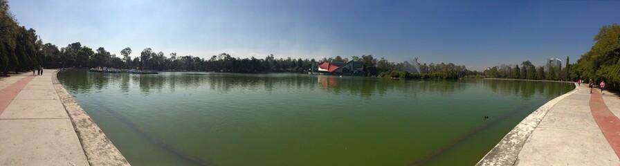 Panoramica del lago de Chapultepec, Mexico DF