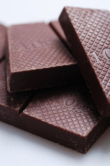 タイルのようなチョコレート