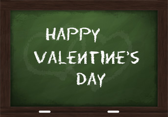 Happy Valentine's day on chalkboard