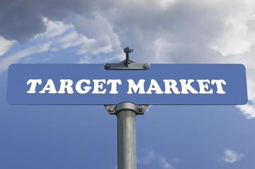 Target market road sign