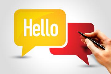 HELLO, Speech Bubbles, business concept
