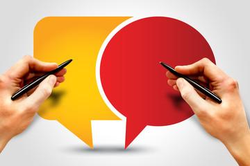 Callout, Speech Bubbles, business concept