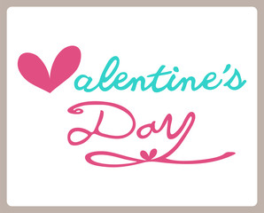 Valentines day, lettering background