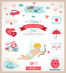 Valentine`s day set.