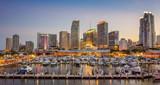 Miami city skyline panorama at twilight - 77044184