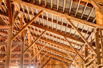 Wood construction roof