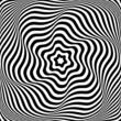 Illusion of wavy rotation movement. Abstract op art illustration
