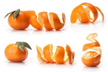 Oranges fruit on isolated on white background