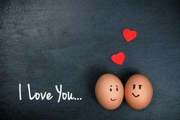 funny eggs in love