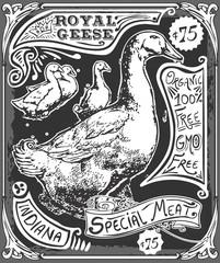 Vintage Goose Advertising Blackboard