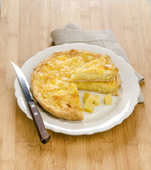 quiche with cheese