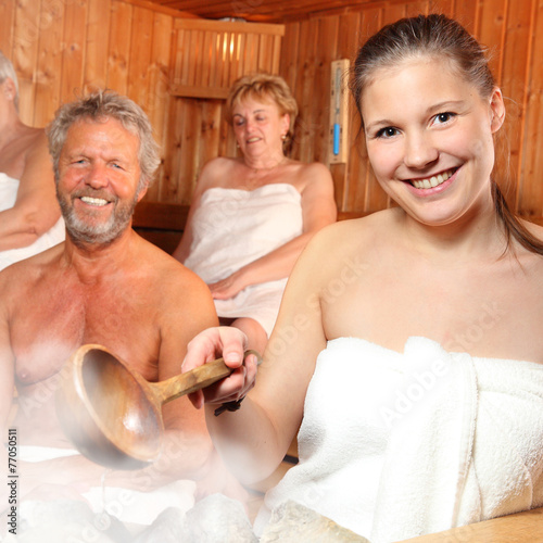 canvas print picture in der Sauna