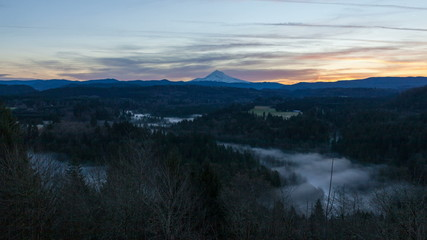 Time Lapse of Rolling Fog along Sandy River at Sunrise