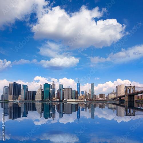 Brooklyn Bridge and Manhattan skyline New York © Tono Balaguer