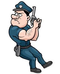 Vector illustration of Cartoon police
