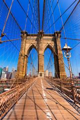 Brooklyn Bridge and Manhattan New York City US