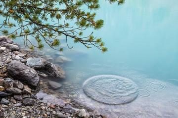 Azure water of mountain lake