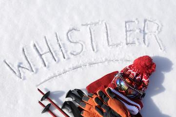 Whistler ski background