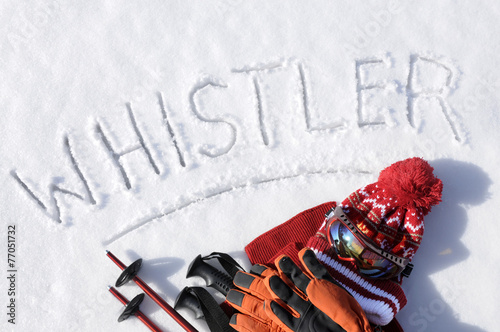 Aluminium Wintersporten Whistler ski background