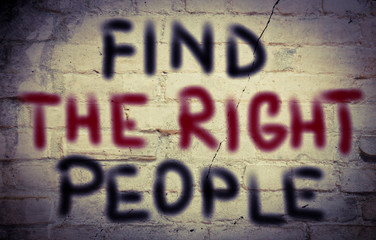 Find The Right People Concept