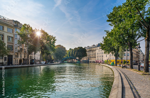 Paris - Canal Saint Martin, France - 77052118