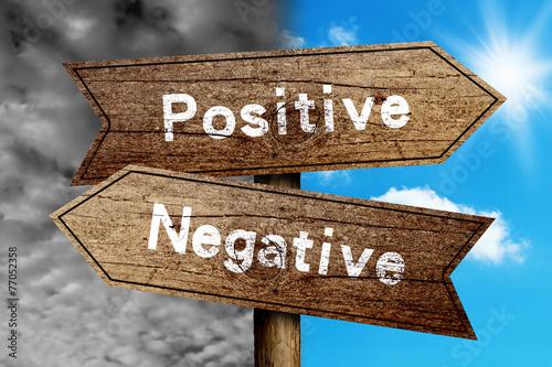 Poster Positive Or Negative