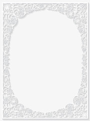Abstract paper floral frame