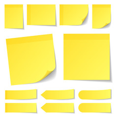Color Yellow Stick Notes Collection