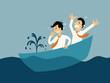 Sinking boat - 77052921