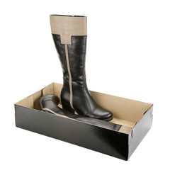 Stylish women's boots in box