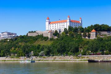 Medieval castle on  hill , Bratislava, Slovakia