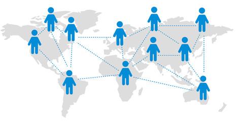 World map SNS Vector