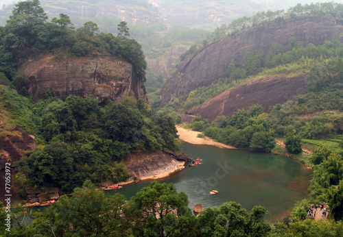 Scenic landscape in Wuyi Mountains, Fujian, China