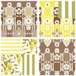 Abstract elegance seamless pattern patchwork with glicinia flowe
