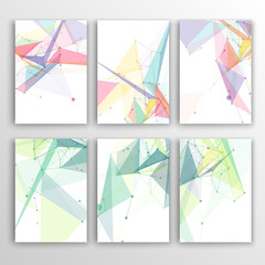 Set of Flyer, Brochure Design Templates. Geometric Triangular