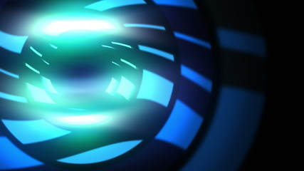 Abstract nightclub animation of rotating light discs. Loop. 4K.