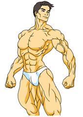 strong bodybuilder posing