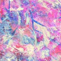 Colorful abstract watercolor acrylic painting.