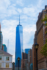 Lower Manhattan with Prudential Tower New York